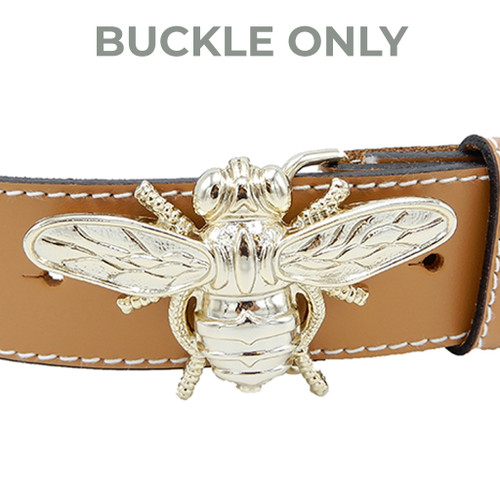 """LILO Collections Bee Nice 1.5"""" Buckle on Classic Camel (STRAP NOT INCLUDED)"""