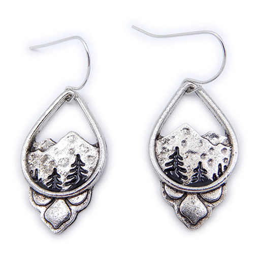 Find your balance in the peace of the mountains with these stylish silver earrings from LILO Collections' Active Jewelry line.