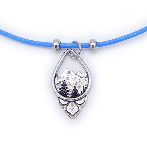 LILO Collections Mountain Lotus Skinny necklace