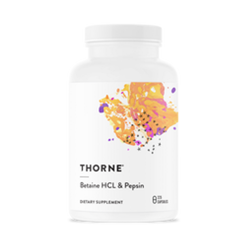 Betaine HCl and Pepsin 225 Caps Thorne Research