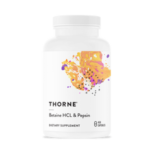 Betaine HCl and Pepsin 450 vcaps Thorne Research