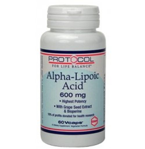 Alpha Lipoic Acid 600 mg 60 Capsules (P3046)