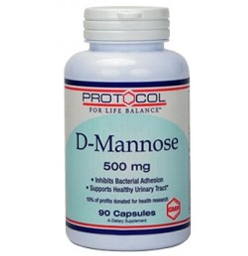 D-Mannose 500 mg 90 Capsules (P2811)