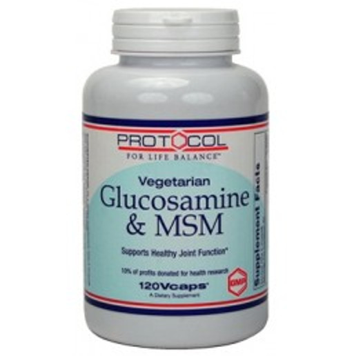 Vegetarian Glucosamine & MSM 120 Capsules (P3130)