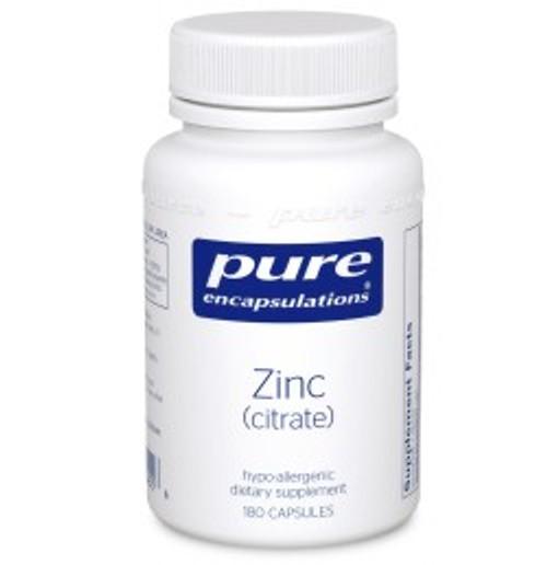 Zinc (citrate) 180 Capsules (ZC1)