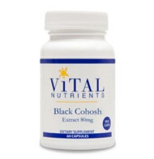 Black Cohosh Extract 80 mg 60 Capsules (VNBKCO80)