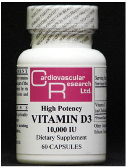 Vitamin D3 10,000IU 60 caps (D310)