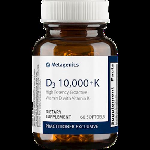 D3 10,000 with K2 60 Softgels (D3K)