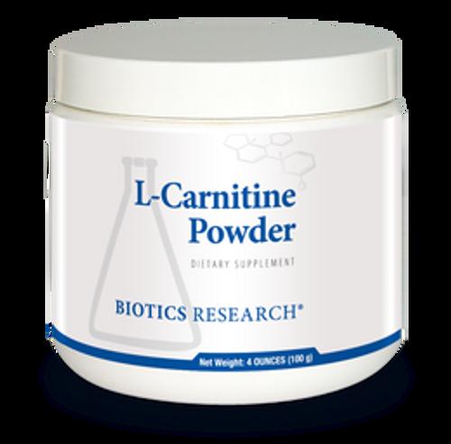 L-Carnitine Powder 100 Grams Biotics Research