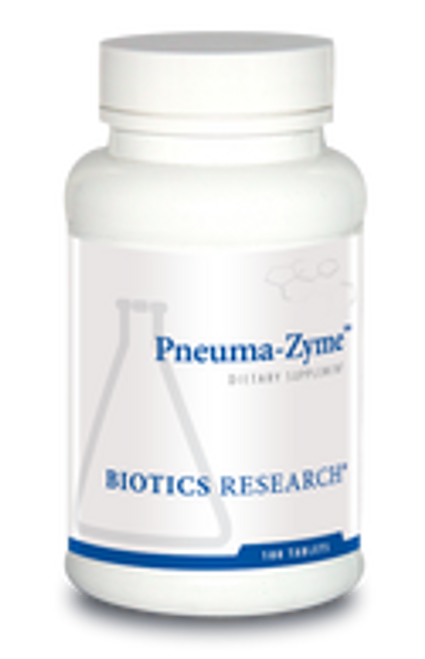 Pneuma-Zyme 100 Tablets Biotics Research