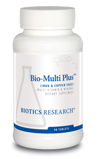 Bio-Multi Plus Iron & Copper Free 90 Tablets Biotics Research