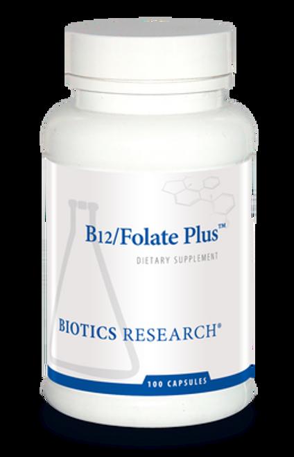B12/Folate Plus 100 Capsules Biotics Research