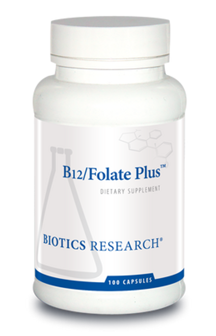 B12/Folate Plus 100 Capsules Biotics Research
