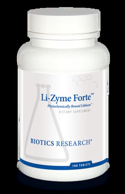 Li-Zyme Forte 100 Tablets Biotics Research