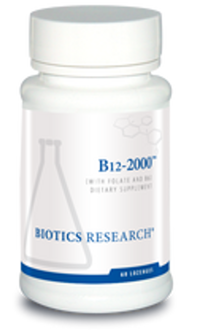 B12-2000 60 Lozenges Biotics Research