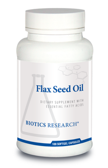 Flax Seed Oil 100 Capsules Biotics Research