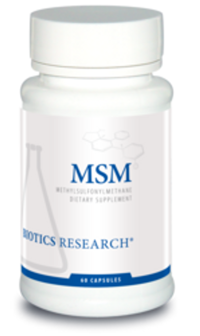 MSM (Methylsulfonylmethane) 60 Capsules Biotics Research