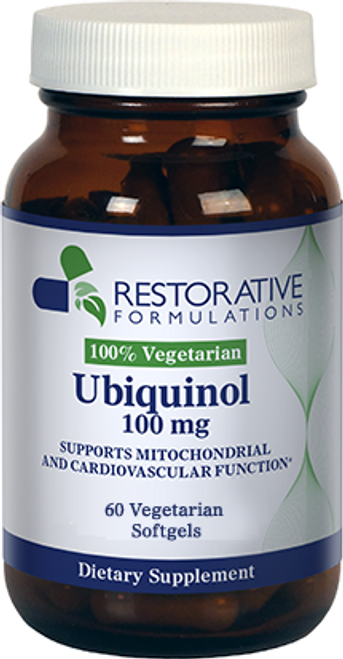 Ubiquinol 100 mg 60 softgels Restorative Formulations