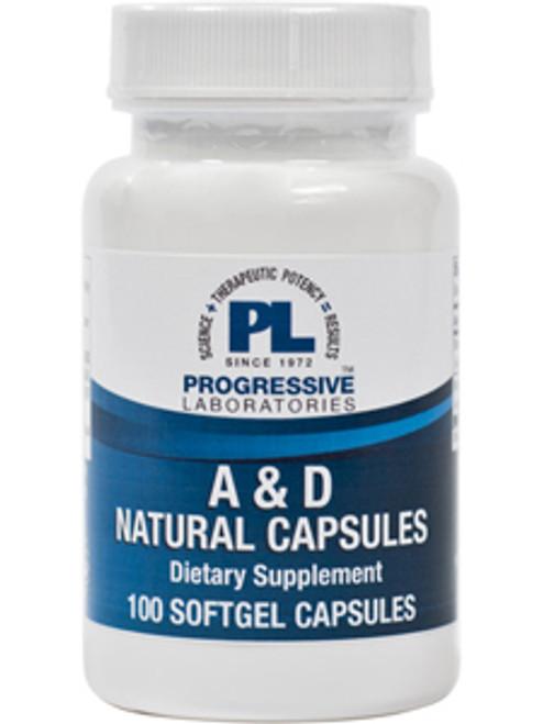 A & D Natural Capsules 100 gels (ADNA)