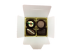 White Gift Box - 4  with Xmas Truffle Dark $9.90