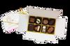 White Gift Box - 8 chocolates with Xmas Truffle Dark $18.50