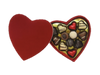 Deluxe red heart box - 12 chocolates $57.50