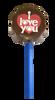"Lollipop milk chocolate - ""I Love You"" $4.00."