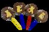 Lollipop milk chocolate - Teddy Bears(4 assorted designs) 30g $4.00ea