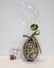 Hollow milk chocolate art Easter egg 105mm high