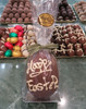 """Hollow milk chocolate """"Happy Easter"""" egg 105mm high"""