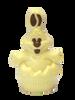 """""""Mr. Cuddles"""" Easter egg rabbit - white 120mm $12.50"""