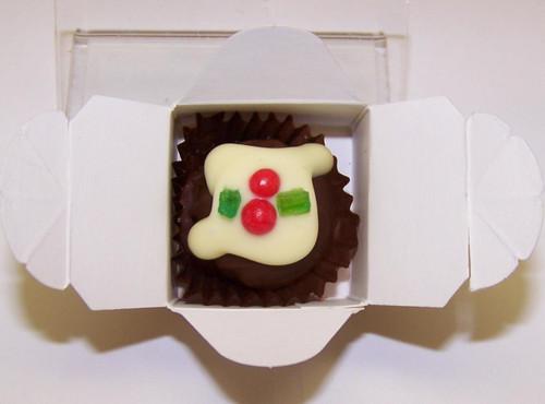 White box - 1 Xmas Truffle  Dark Chocolate $2.90