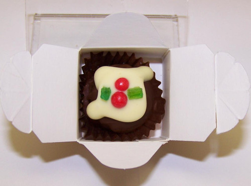 White box - 1 Xmas Truffle  Dark Chocolate $2.90