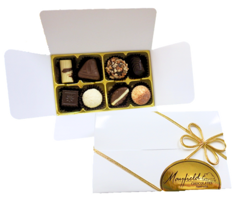 White gift box - 8 chocolates $18.50