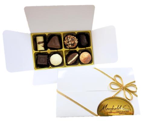 White gift box - 8 chocolates $18.50