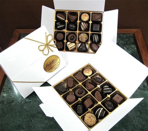 White gift box - 16 chocolates $36.50