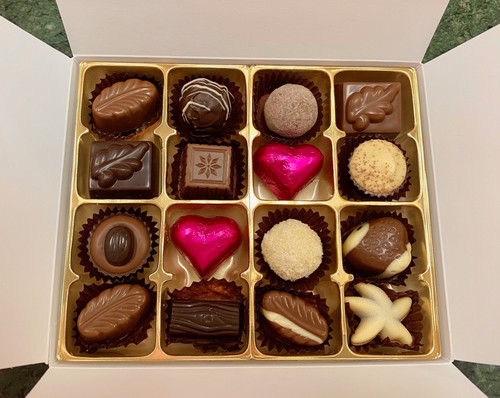 16 piece gift box, mothers day, chocolates