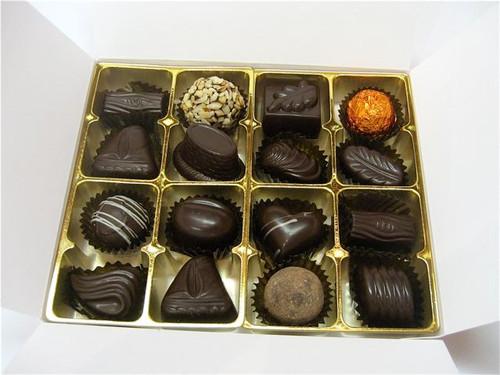 White gift box - 16 assorted Dark chocolates $36.50