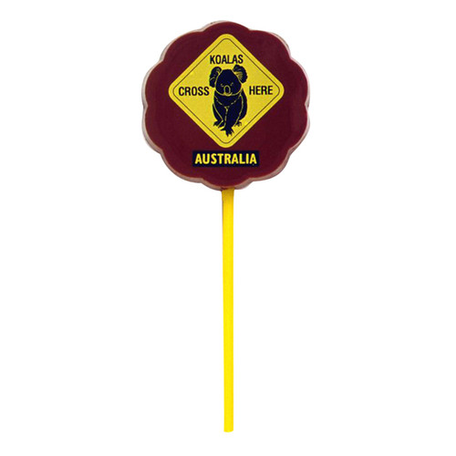 Lollipop milk chocolate - Koala/Kangaroo Road Sign $4.00.