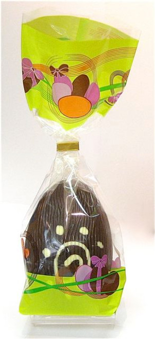 Hollow dark chocolate art egg 105mm high $9.90