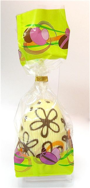 Hollow white chocolate art egg 105mm high $10.90