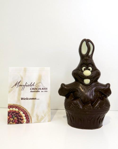 """""""Mr. Cuddles"""" Easter egg rabbit - dark"""