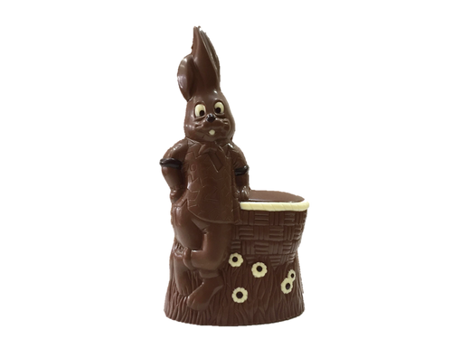 """Mr. Suave"" hollow bunny decorated -235mm- milk $27.50"