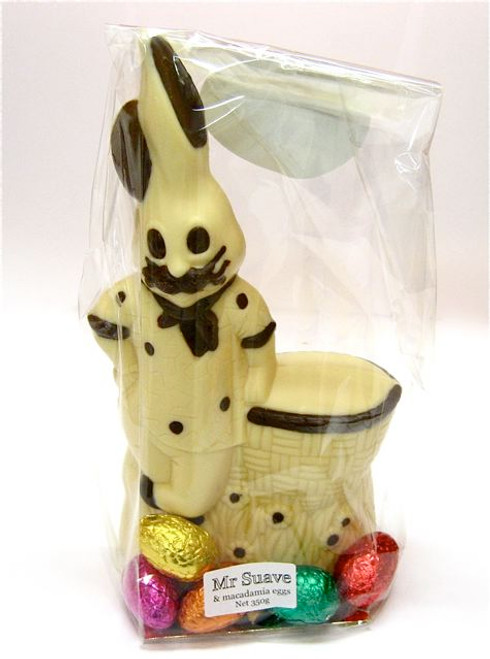 """Mr. Suave"" hollow bunny white chocolate -235mm- $30.50"