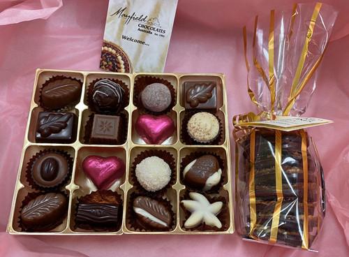 mothers  day, white box, chocolates, florentines