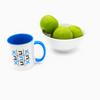 Abba (daddy) grid Hebrew coffee mug in blue