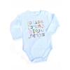 Fun Hebrew Alef Beit cool design Baby Onesie