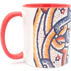 """To every thing there is a season"" Red mosaic Coffee Mug"