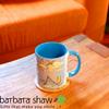 Jerusalem sites light blue Coffee mug | Barbara Shaw Jewish Gifts