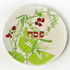 Barbara Shaw Botanical green Passover Seder Plate